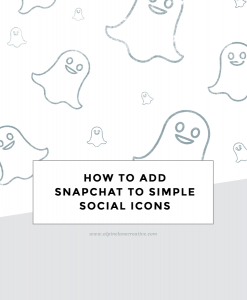 Add Snapchat to Simple Social Icons
