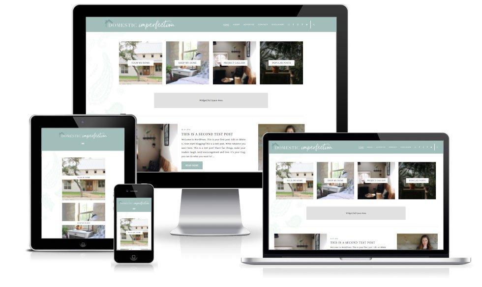 Domestic Imperfection custom blog design